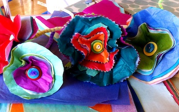Mother S Day Gift Idea Easy Tissue Paper Flowers Things To Make