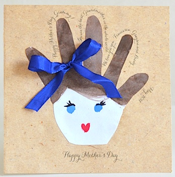 homemade card idea mother s day handprint card things to make and