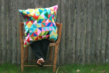 Apple Cyder nursery school pillow project