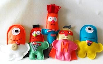 Tea Wagon Tales felt stuffies for kids to make