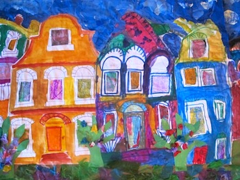 Lots Of Lovely Art houses art projects