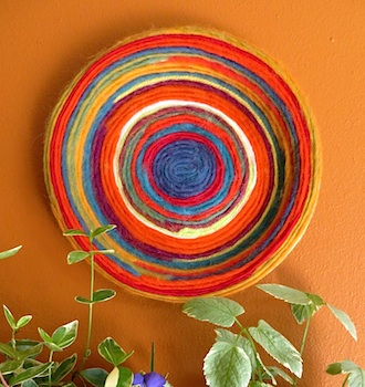 Szymczaks In Seattle yarn plate wall hanging  sc 1 st  The Crafty Crow & Yarn Plate Wall Hanging Craft - Things to Make and Do Crafts and ...