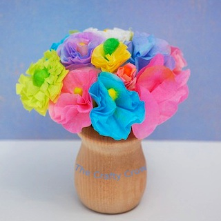 Crafty Crow miniature flowers made from q-tips tutorial