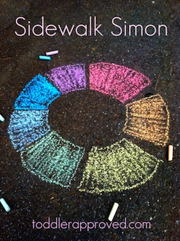 Toddler Approved! sidewalk simon game