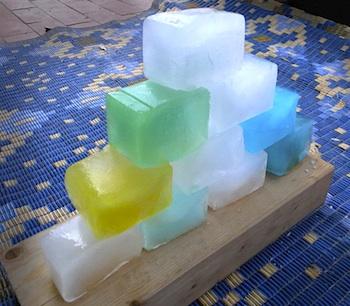 El Hada de Papel ice blocks