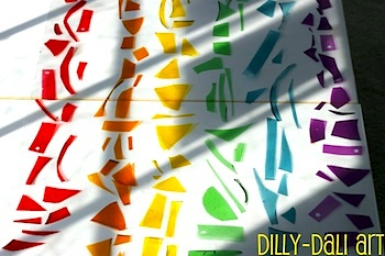 Dilly-Dali Art gelatin plastic rainbows