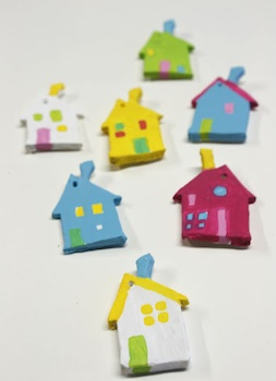 Clay House Pendants Things To Make And Do Crafts And Activities