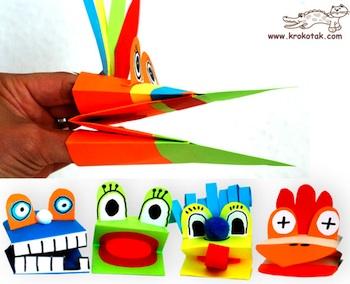 Krokotak paper hand puppet