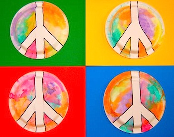 Martin Luther King, Jr. Day craft for kids peace sign