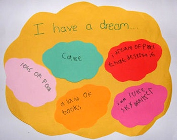 Martin Luther King, Jr. Day craft for kids I Have A Dream poster paper craft