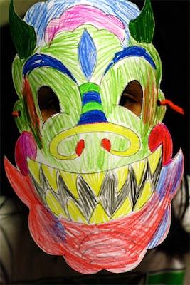 Alphamom chinese new year dragon mask