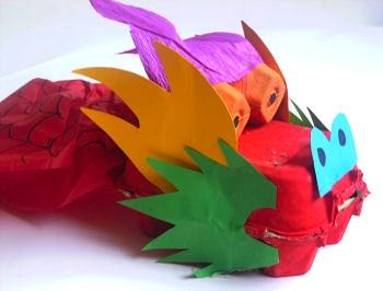 Activity Village egg carton dragon