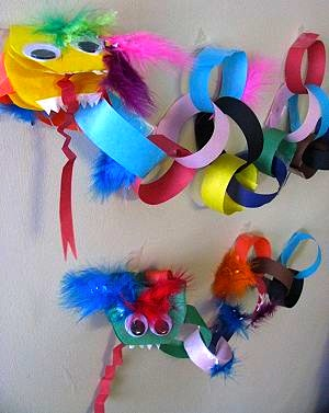 Naturally Educational paper chain dragon