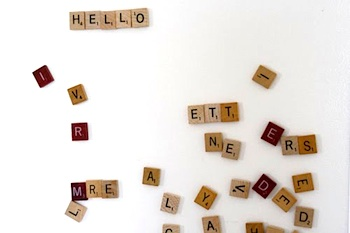 Kinderpendent abc scrabble magnets