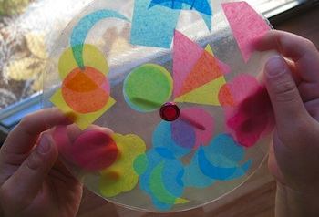 Bookhou Crafts colored tissue kaleidoscope
