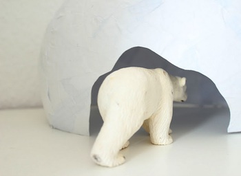 Domestic Candy papier mache bear cave