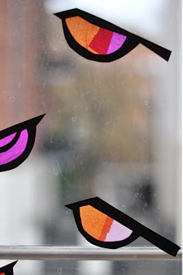 Lilla A paper craft tissue stained glass birds
