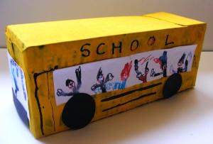 Activity Village valentine box school bus craft