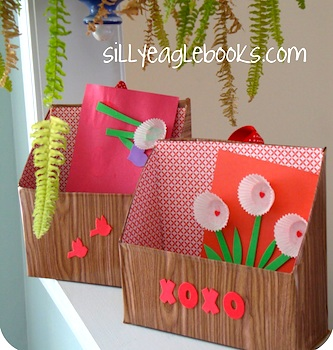 Silly Eagle Books valentine box recycled cereal box