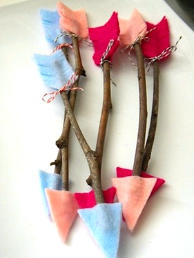 Homework valentine crafts twig arrows