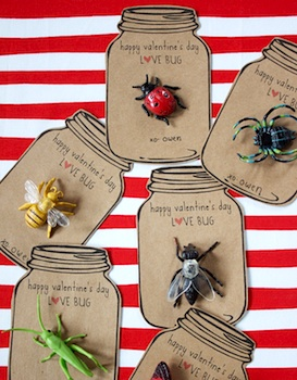 Dandee valentine card printable love bugs