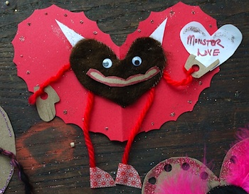 The Handmade Adventures Of Captain Crafty valentine cards monster valentine