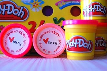 random thoughts of a supermom valentine card play doh valentine printable - Toddler Valentine Ideas