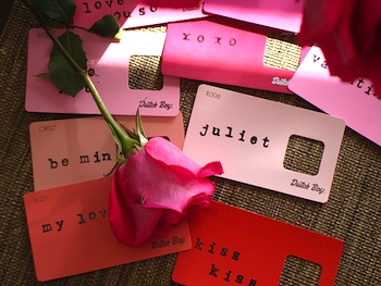 Silly Eagle Books paint chip valentines