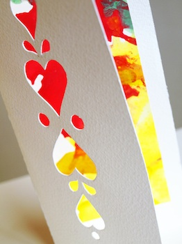 Artful Adventures valentine cards cut paper valentines