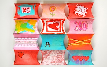 Ink Stitch tp roll valentine sweet boxes