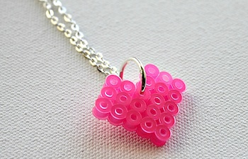 Multiples And More perler bead valentine heart charm