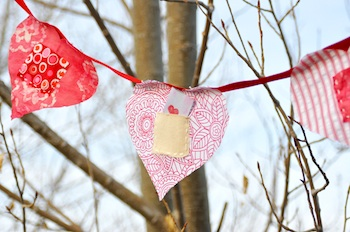 Imagine Childhood love notes bunting