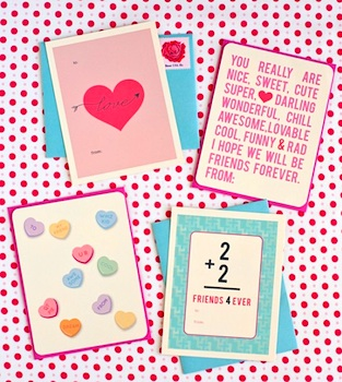 One Charming Party printable valentines
