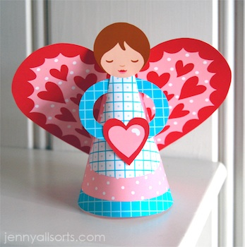 Allsorts valentine angel printable