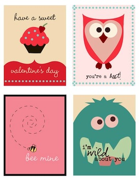 Pumpkins And Posies printable valentines