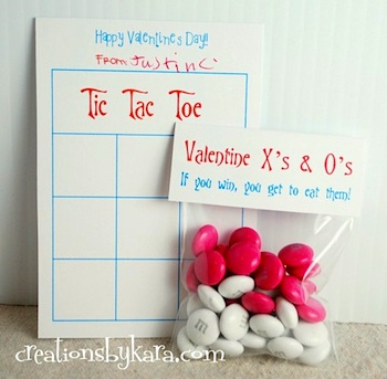 Creations By Kara tic tac toe valentine printable