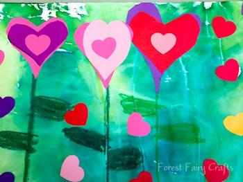 Forest Fairy Crafts garden of hearts preschool valentine craft