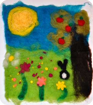 Rosy~Posy felted wool pictures