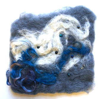 New City Arts felted wool clouds