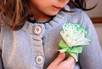 Q Made faux green carnation