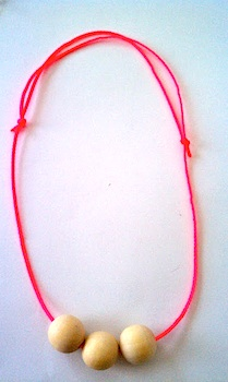Everything Nice simple neon wood bead necklace