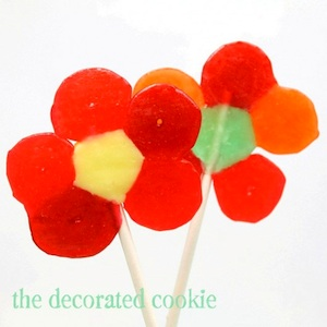 The Decorated Cookie lifesaver flower pops