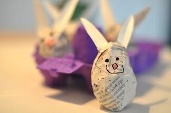 Lilla A easter egg papier mache