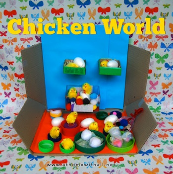 At Home With Ali chicken world easter craft