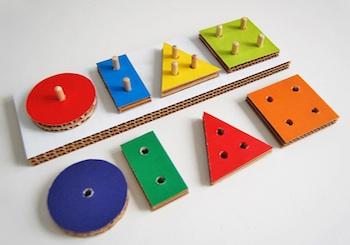 Play And Grow cardboard shape toy diy