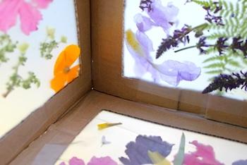 The Artful Parent cardboard flower box