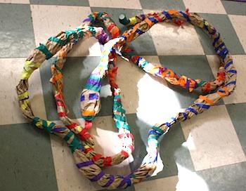 Preschool Daze paper snakes