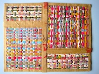 Recycled paper woven placemats