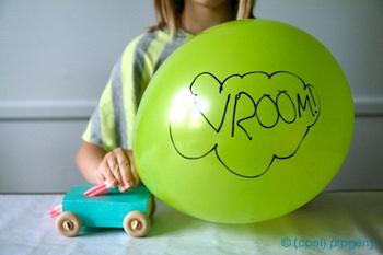 (Cool) Progeny balloon powered car