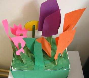 SEWNnatural 3d spring flower garden